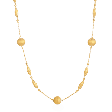 27440 - 22ct Gold Sparkle Necklace