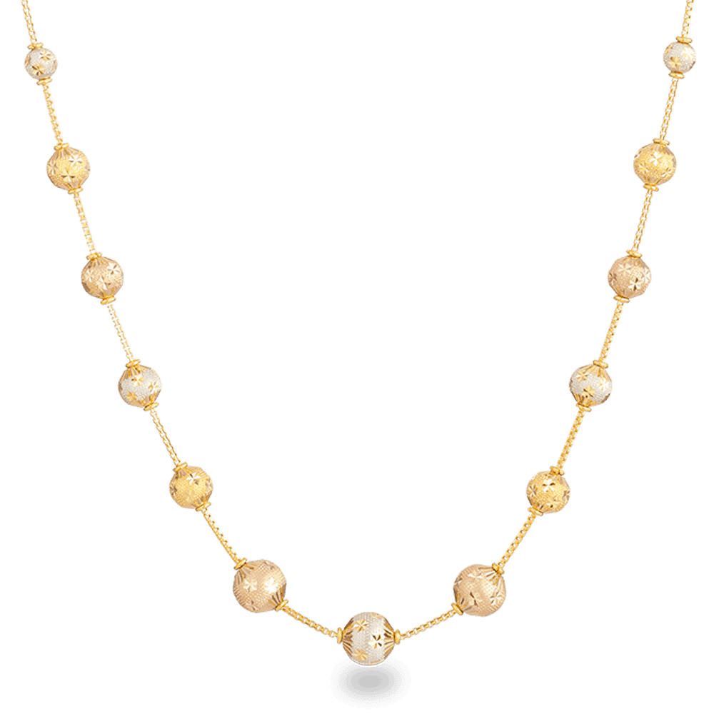 27441 - 22ct Gold Sparkle Necklace