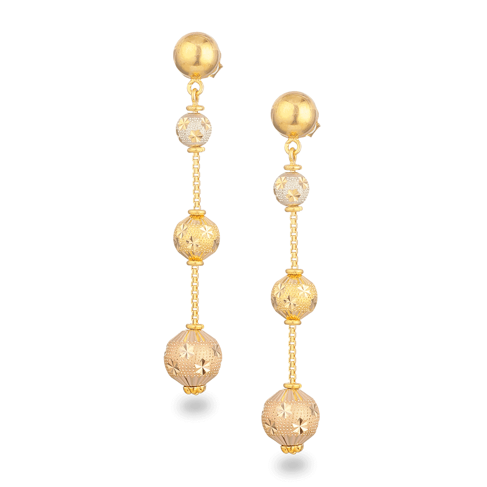 27442 - 22ct Gold Sparkle Earrings