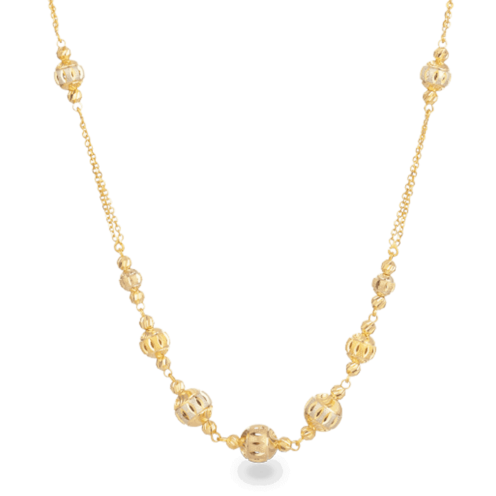 27782 - 22ct Gold Sparkle Necklace