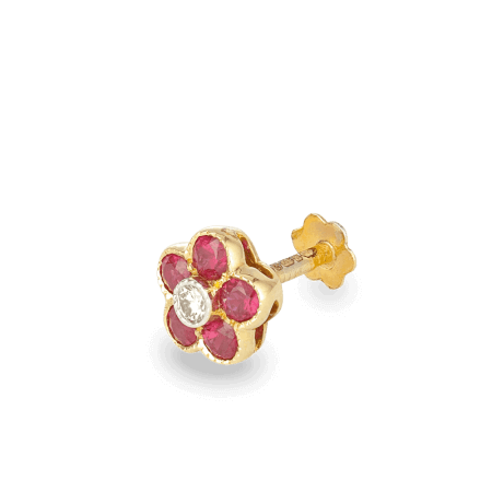 27444_18ct ruby nosepin
