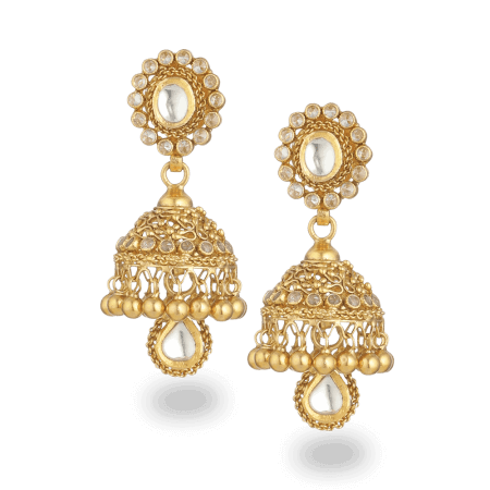 27567 - 22ct Gold Armari Jhumka Earrings