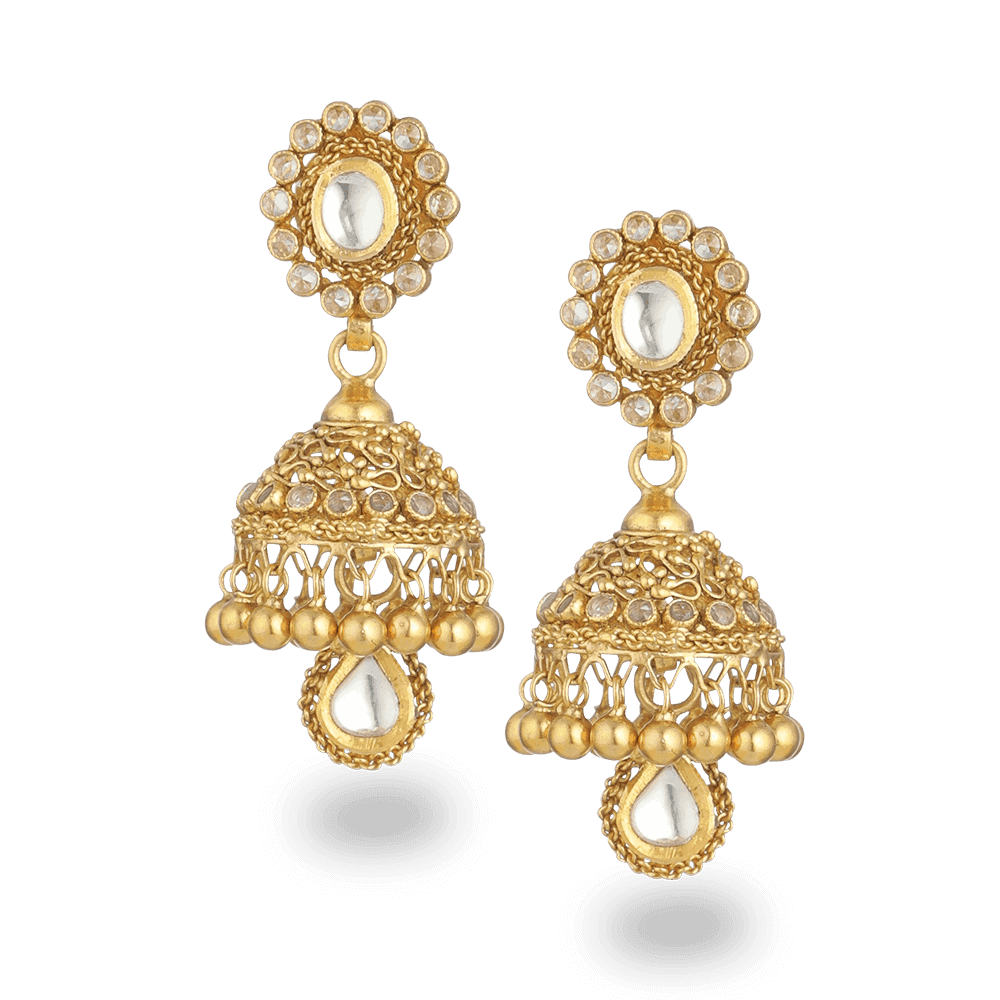 27567 - 22ct Gold Armari Jhumka Earrings