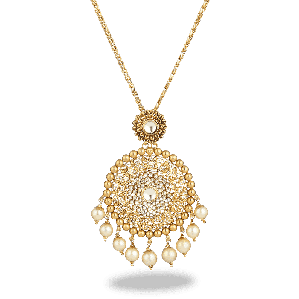 27602 - 22ct Gold Armari Pendant With Chain