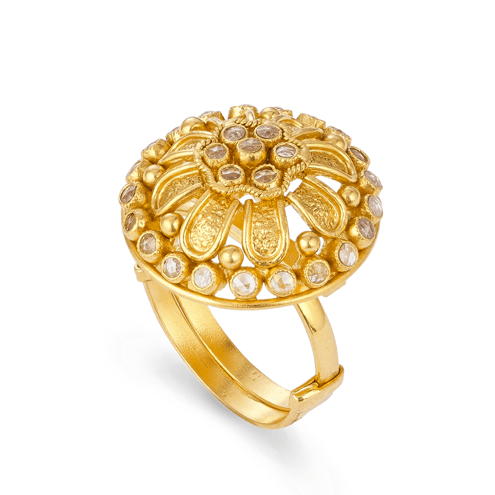 27555 - 22ct Yellow Gold Ring Armari