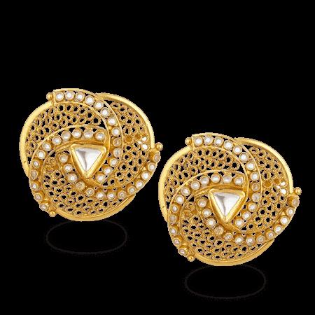 27575 - 22ct Gold Armari Stud Earrings