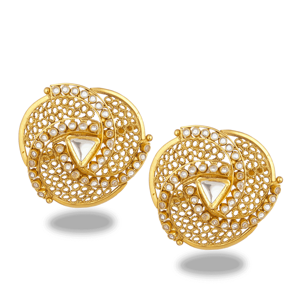 27575 - 22ct Gold Armari Stud Earrings
