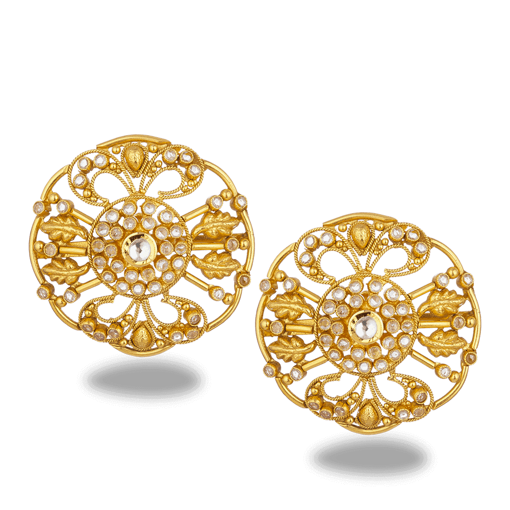 27576 - 22ct Gold Armari Stud Earring
