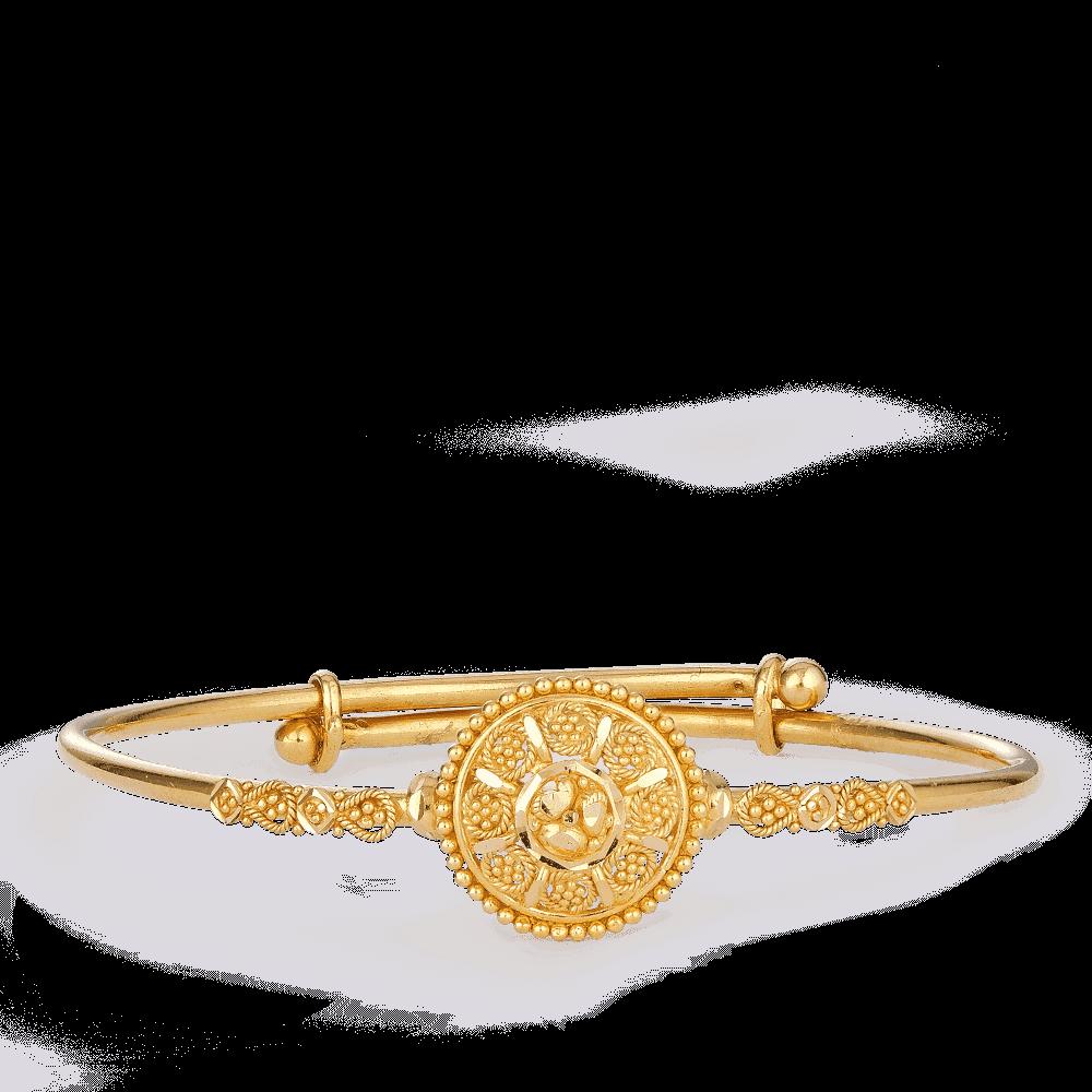 25826 - 22k Gold Bangle for baby Girl