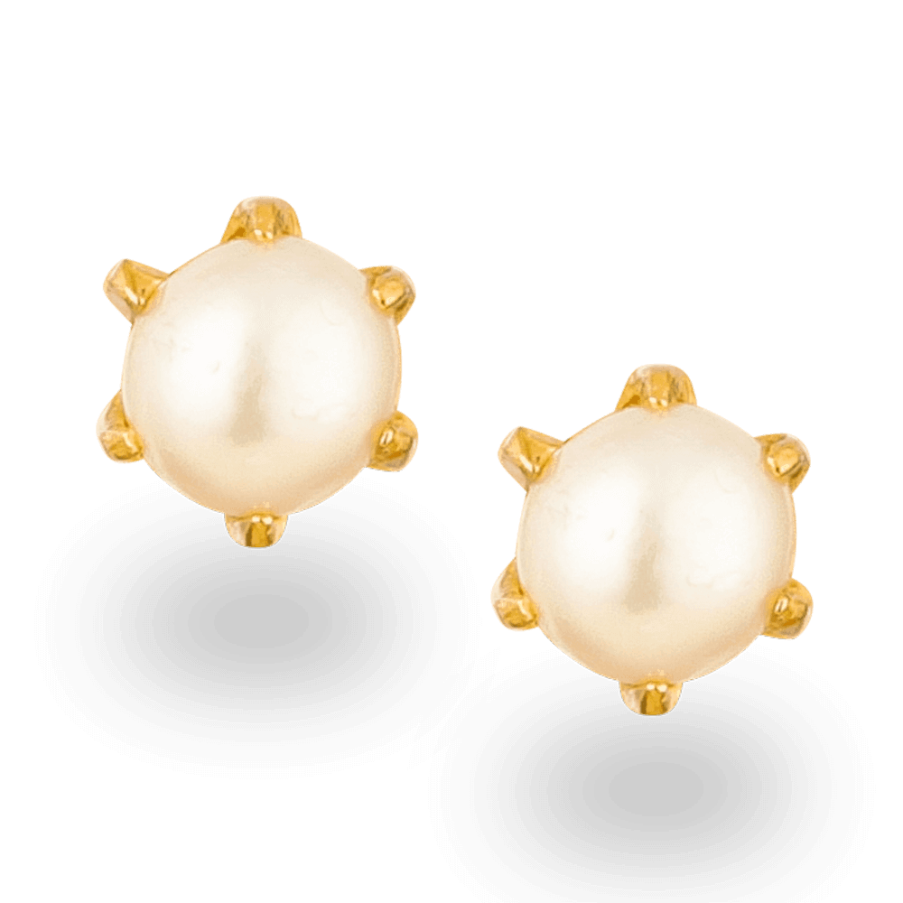 26062 - 22ct Gold Pearl Stud Earring