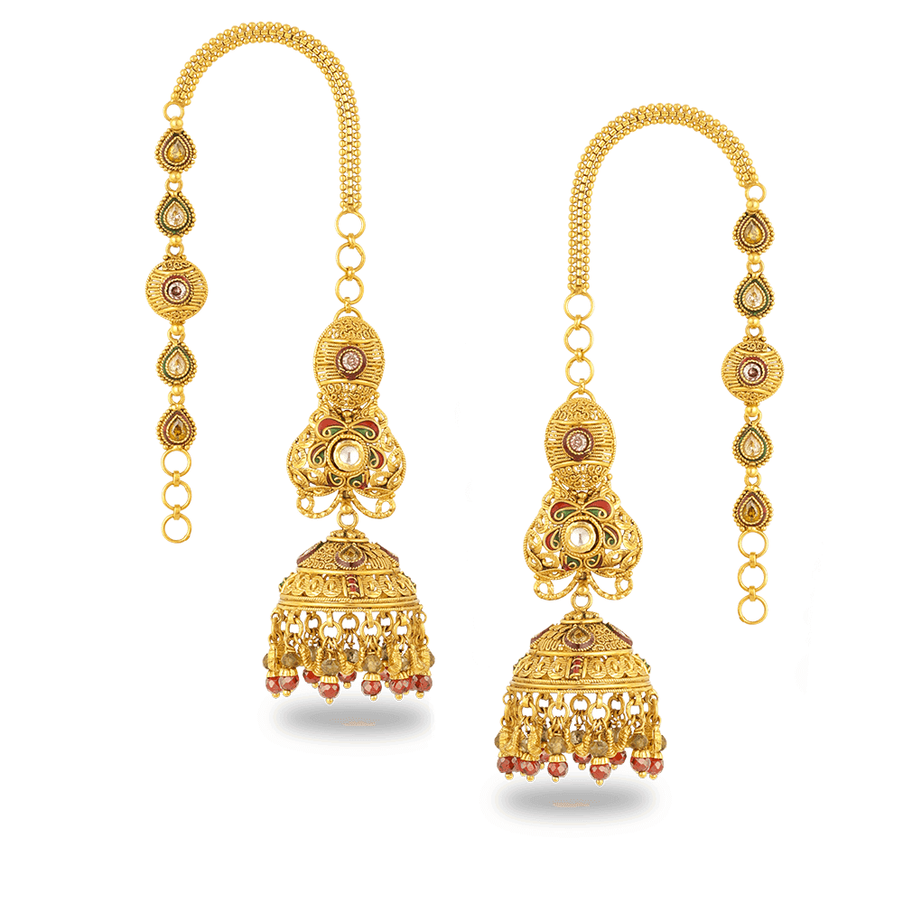 27610, 27613 - 22ct Gold Earring