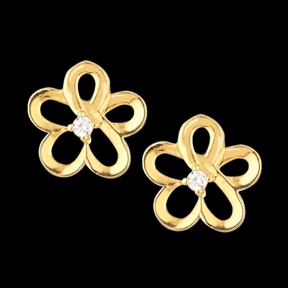27050 - 22ct Gold CZ Stud Earring