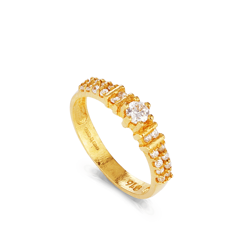 - 22ct Gold Ladies CZ Ring