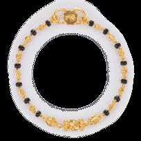 27489-1 - 22ct Gold Black Beads Baby Bracelet
