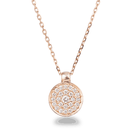 28576 - 18ct Rose Gold Diamond Necklace
