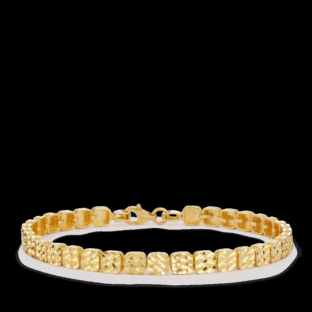 27848 - 22ct Gold Diamond Cut Bracelet