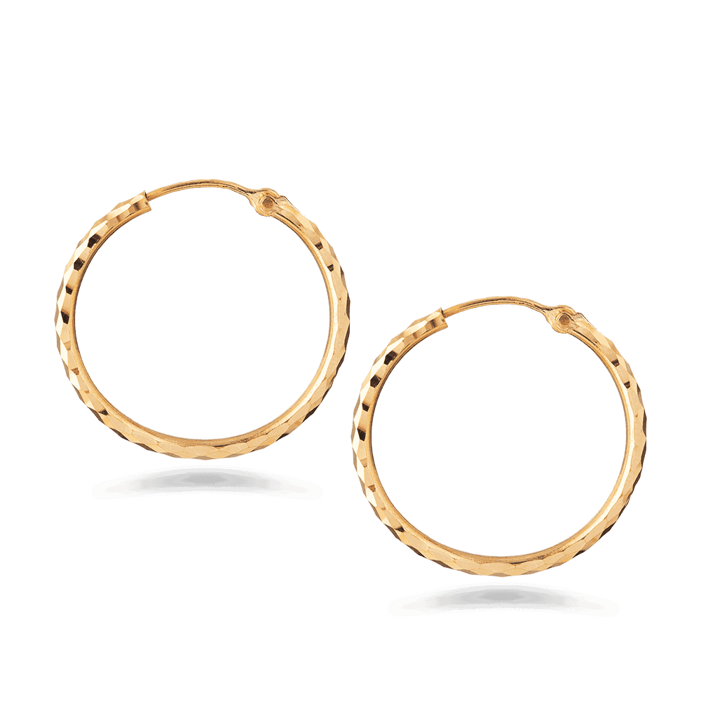 7171,7170 - 22ct Gold Balli Earring
