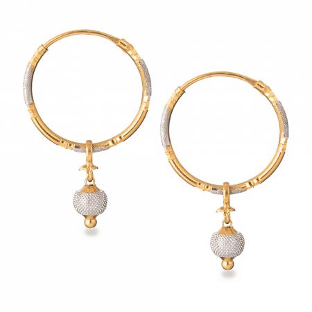 26916 - 22ct Gold Hoop Earrings