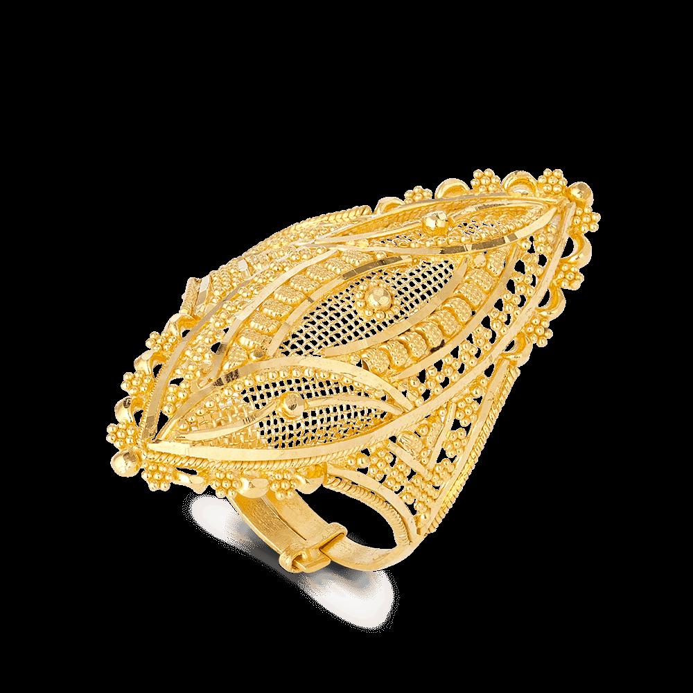 27592 - 22ct Indian Gold Ladies Ring