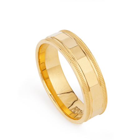 27845 - 22ct Gold Ring Band with Engraving