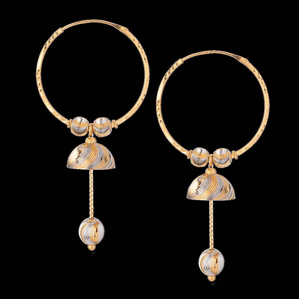 27991 - 22ct Gold Hoop Earring