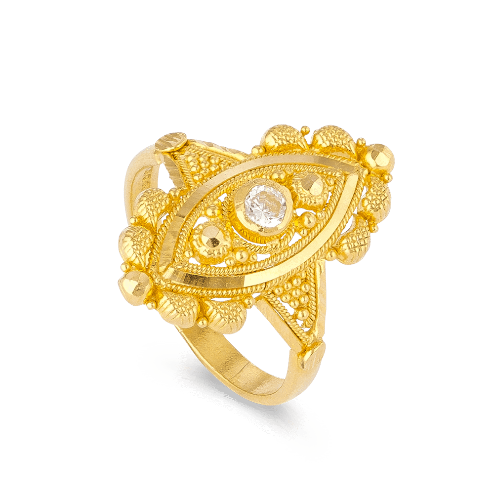 6526 - 22ct Indian Gold Ring