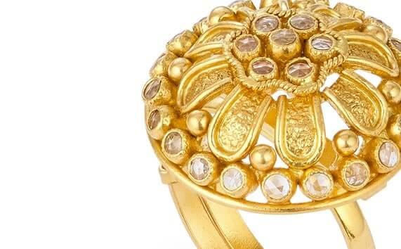 - Anusha 22ct Gold Polki Ring