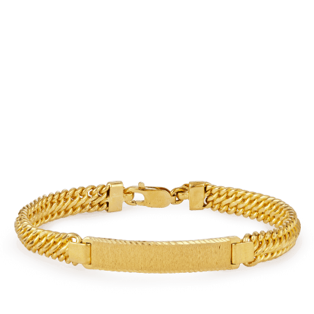 19387 - 18ct Gold Men's Bracelet