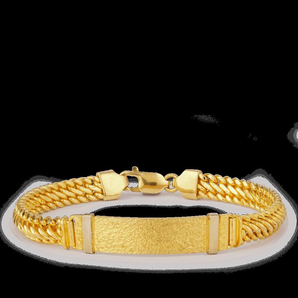 19388 - 18ct Gold Men's Bracelet