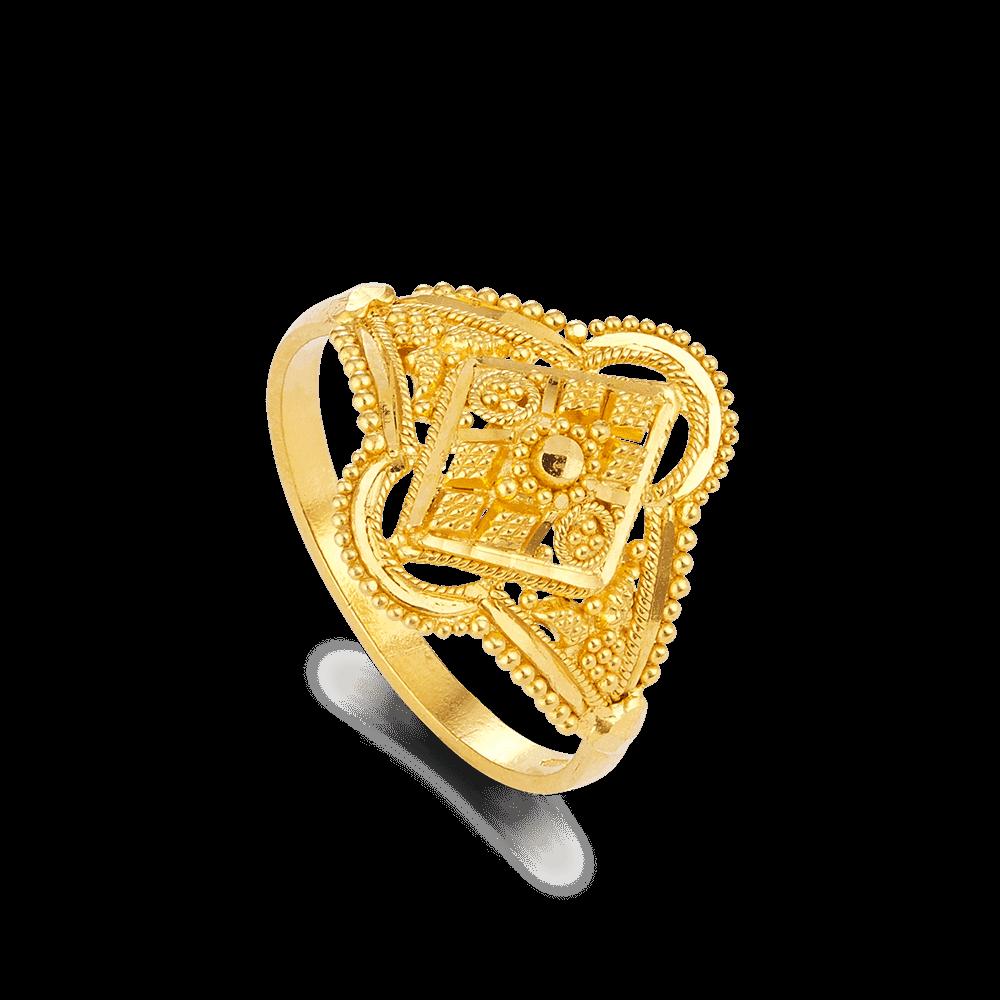 22972 - 22ct Gold Ladies Filigree Ring