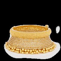 23144 - Diya 22ct Gold Bridal Cuff Bangle