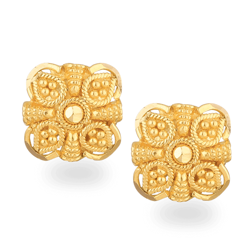 24706 - 22ct Gold Stud Earring