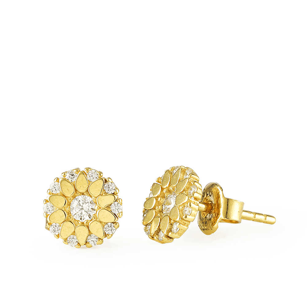 25425 - 22ct Gold Stud Earring