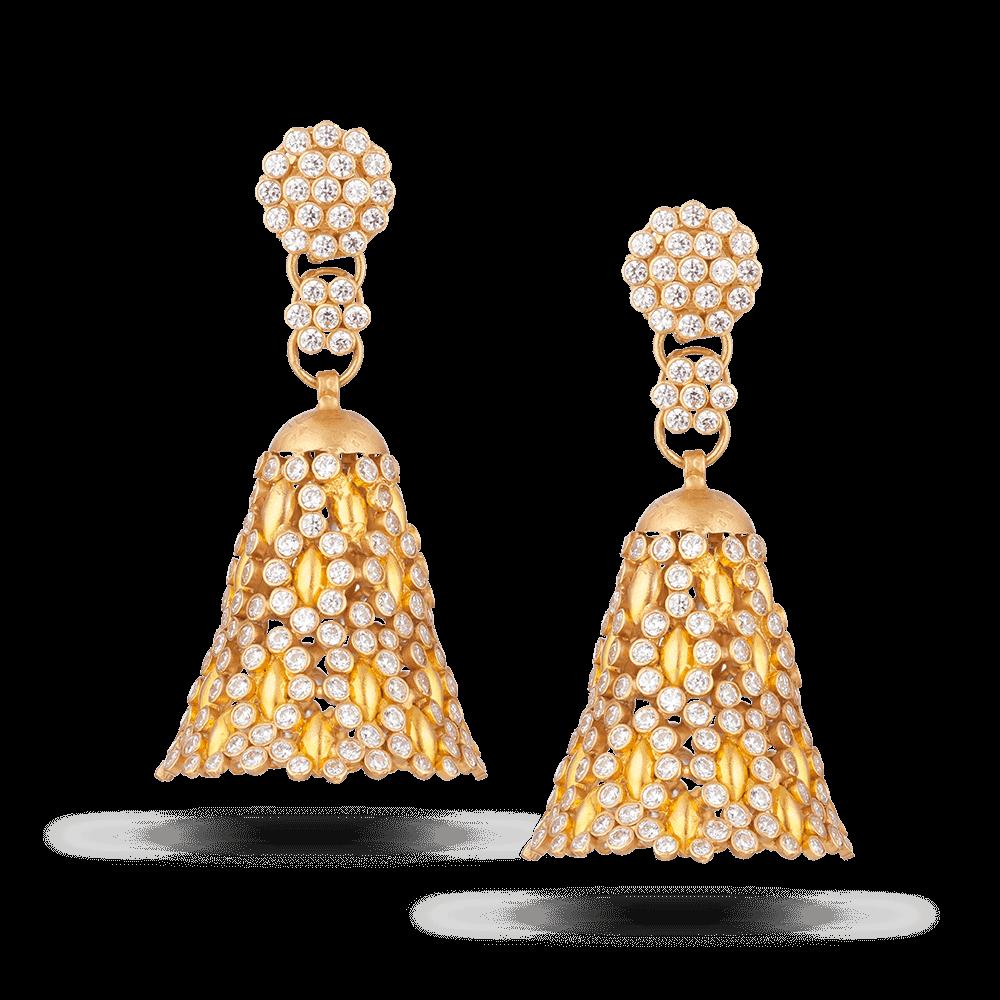28464 - Anusha 22ct Gold Earring