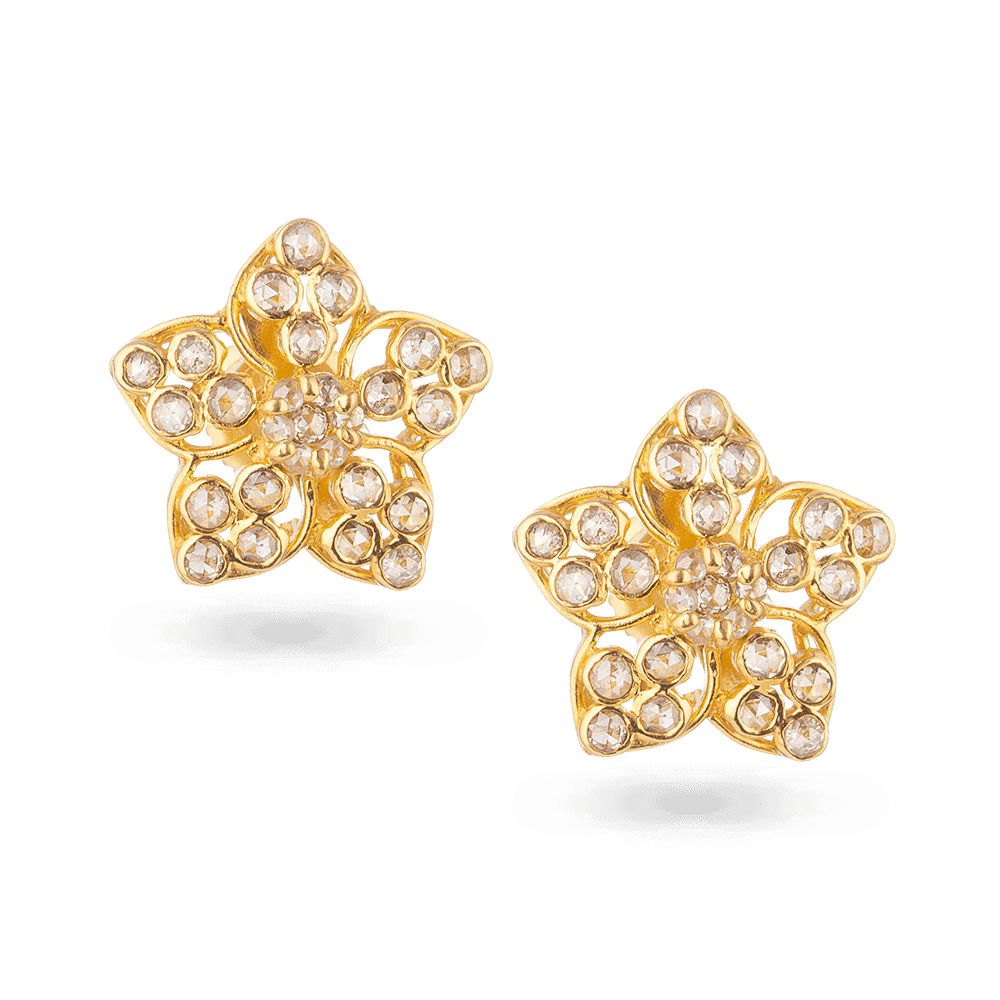 27095 - Diya 22ct Gold Bridal Stud Earring