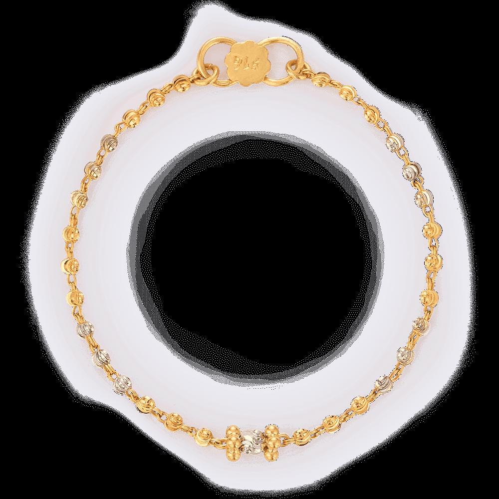 27210 - 22ct Gold Baby Bracelet