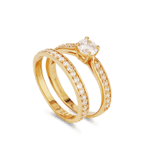 32520 , 32521 - 22ct Indian Gold Engagement Rings