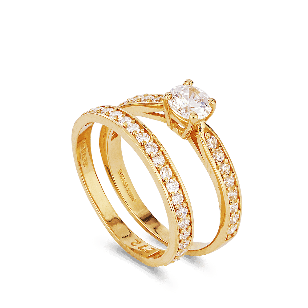 27504 , 27856 - 22ct Indian Gold Engagement Rings