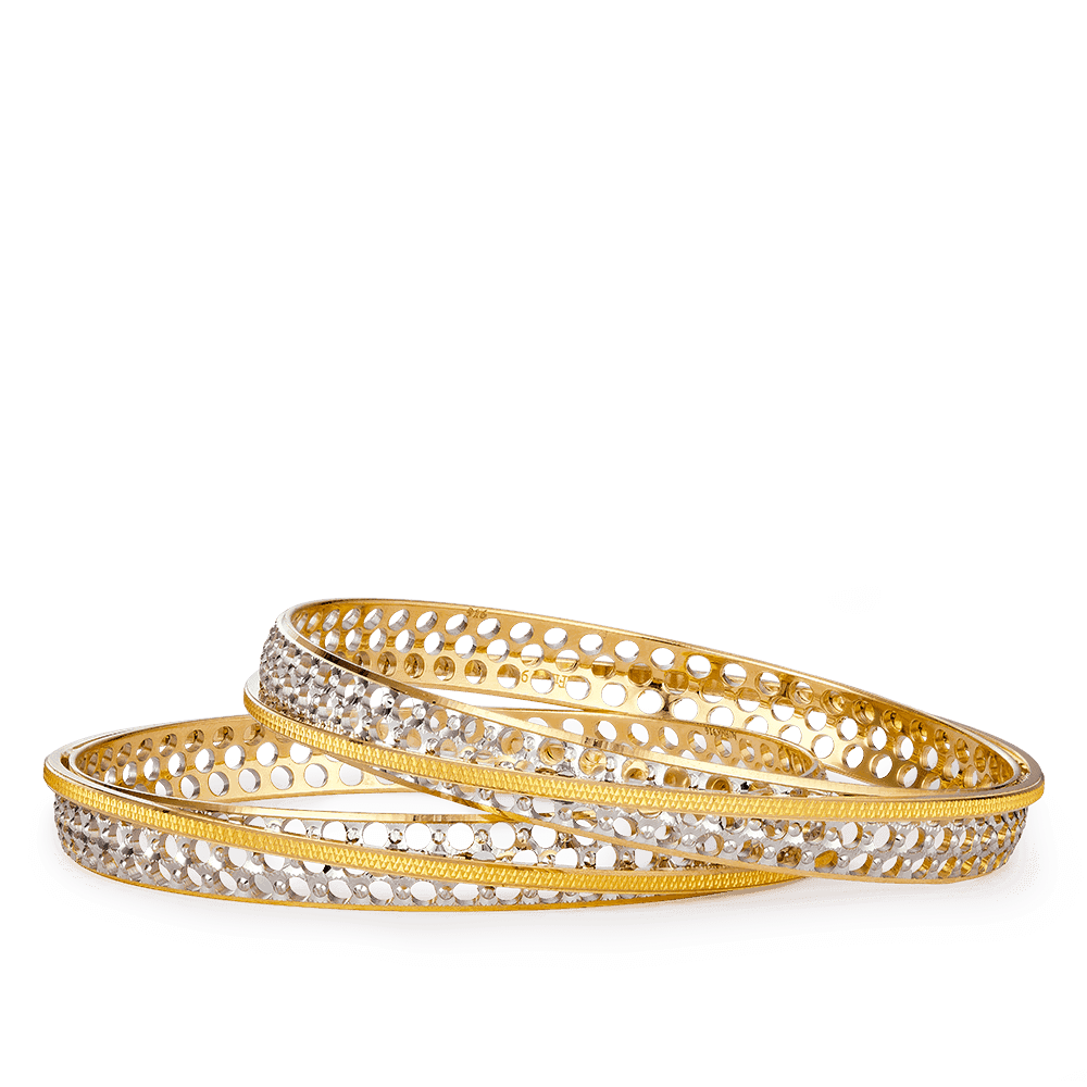 27645, 27646 - 22ct Gold Bangle Set