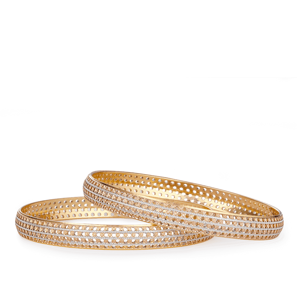 27647, 27648 - Ladies Gold Bangle In 22ct