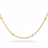 27804 - Anusha 22ct Gold Chain With Polki Stones, 22 Inches