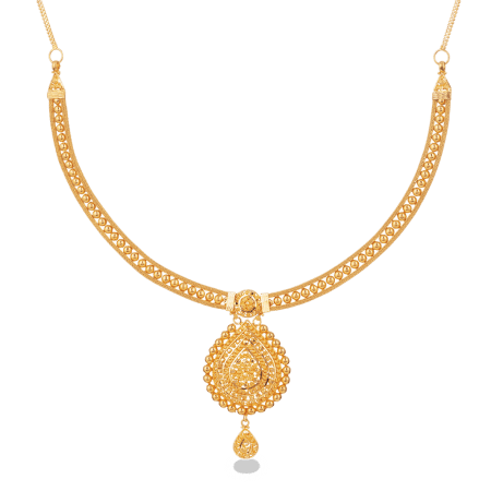 27827 - 22ct Gold Bridal Necklace in Filigree Design