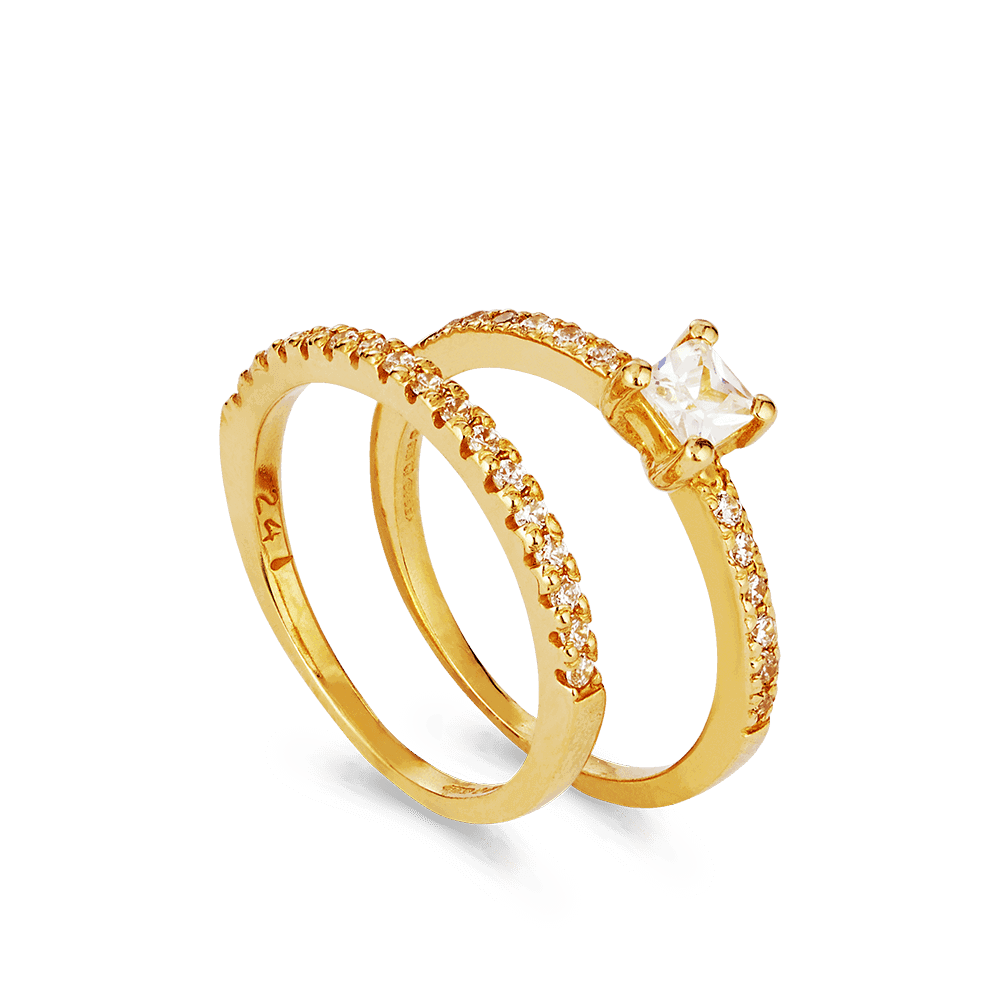 27859 , 27858 - 22ct Indian Gold Engagement Rings