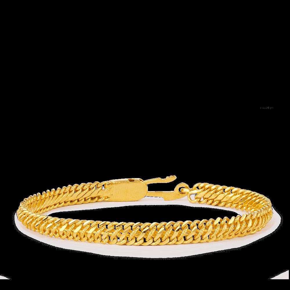 27913 - 22ct Gold Men's Bracelet