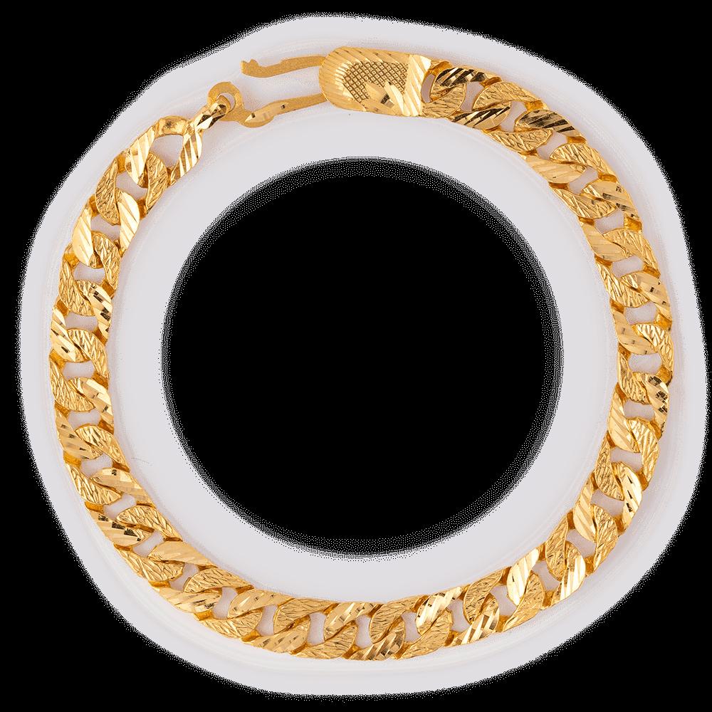 27917 - 22ct Gold Men's Figaro Bracelet