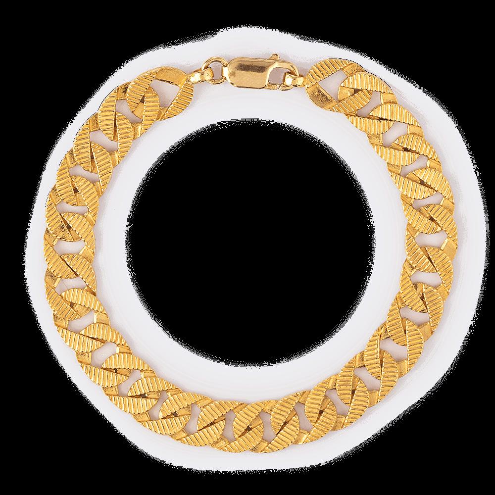 27291 - 22 Carat Gold Gents Bracelet