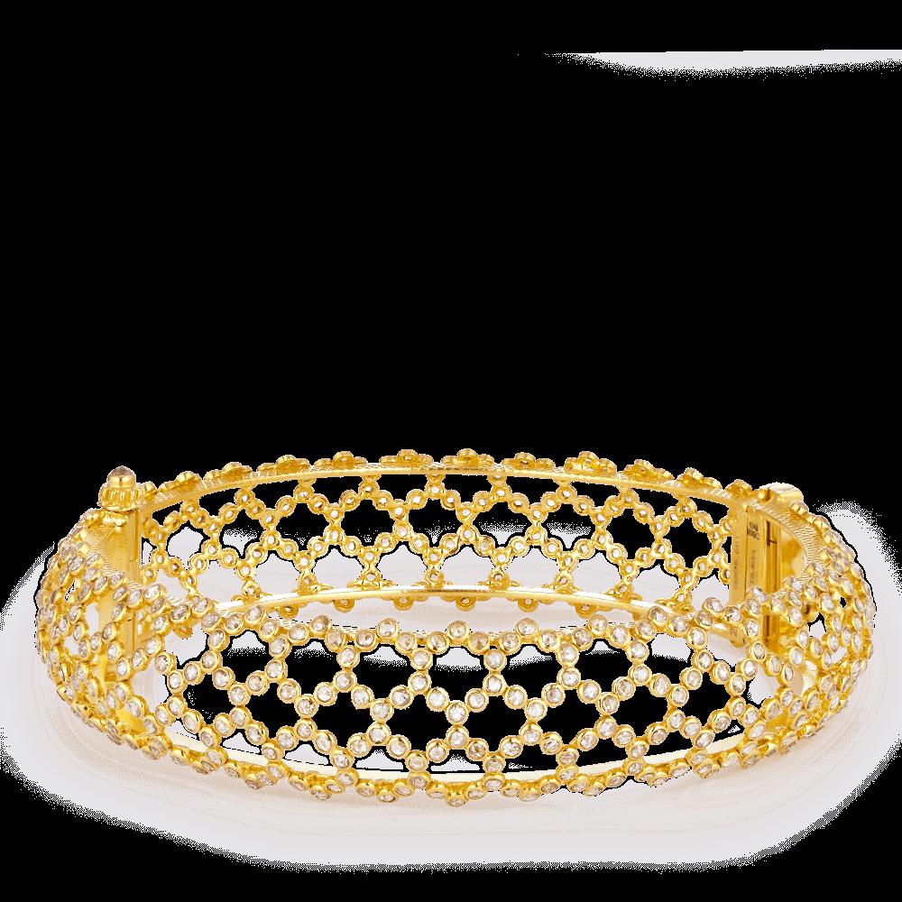 27927 - Diya 22ct Gold Uncut Polki Diamond Kada Bangle