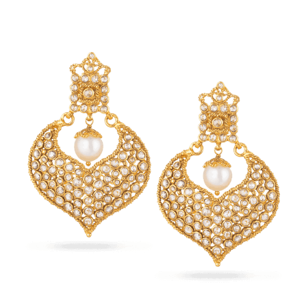 27929 - Diya 22ct Gold Uncut Polki Diamond Earrings