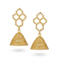 31001 - Diya 22ct Gold Uncut Polki Diamond Bridal Earrings