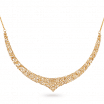 27933 - Diya 22ct Gold Uncut Polki Diamond Necklace
